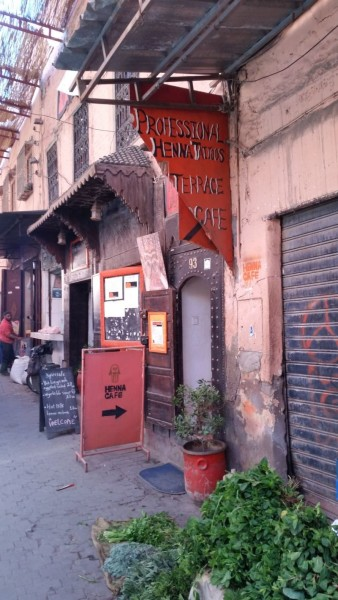 Henna Café in Marrakesch