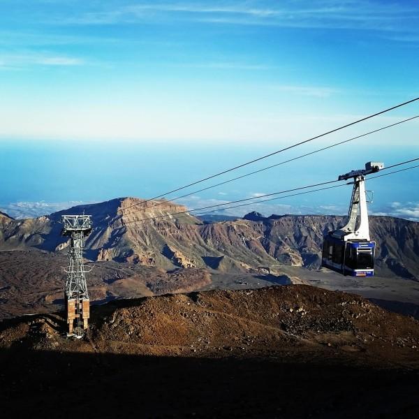 Mit der Seilbahn auf dem Pico del Teide auf Teneriffa
