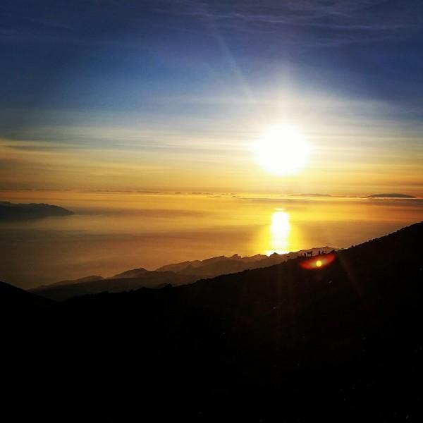 Sonnenuntergang vom Pico del Teide