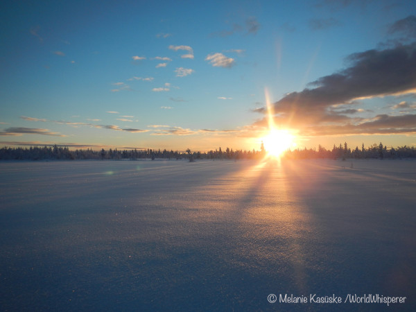 Sonne knapp über dem Horizont