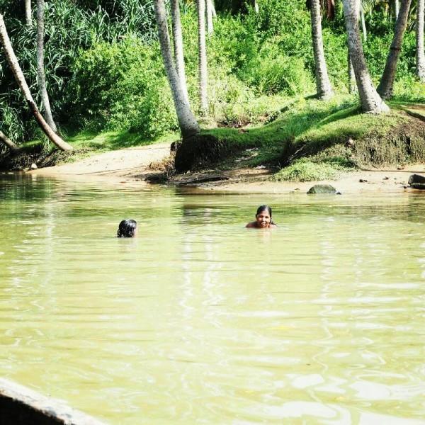 Ayurvedakur in Kerala ....oder auch gebadet.