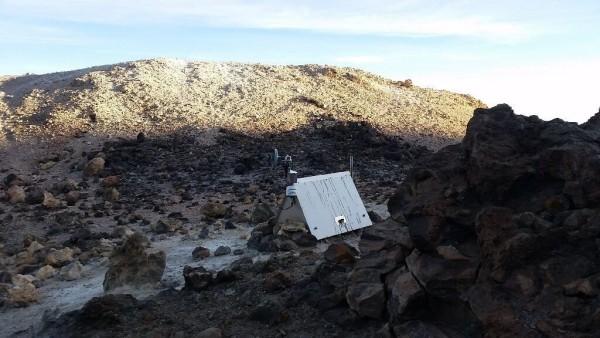 Messinstrumente auf dem Pico del Teide