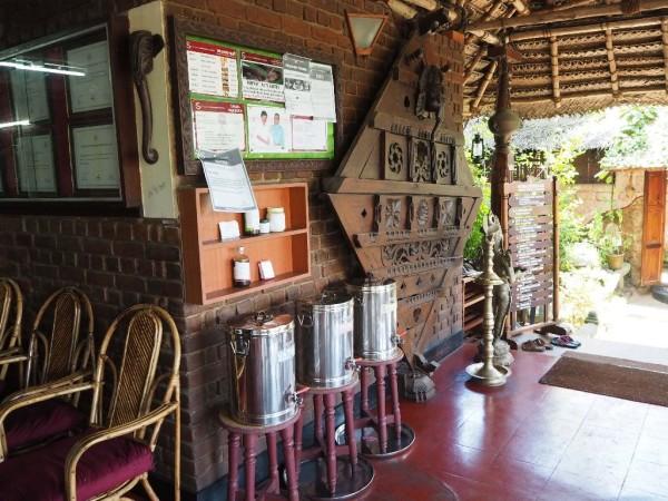 Ayurvedakur in Kerala - Treffpunkt für die ärztliche Konsultationen und der ayurvedischen Behandlungen.