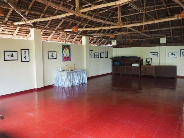 Ayurvedakur in Kerala - Einer der Yoga- und Meditationshallen.
