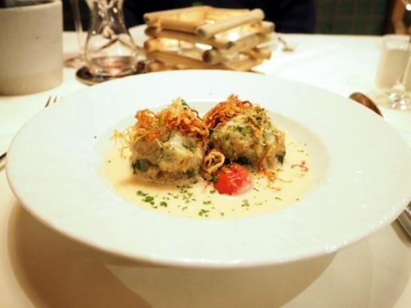 Arabella Alpenhotel am Spitzingsee Restaurant Spinatknödel