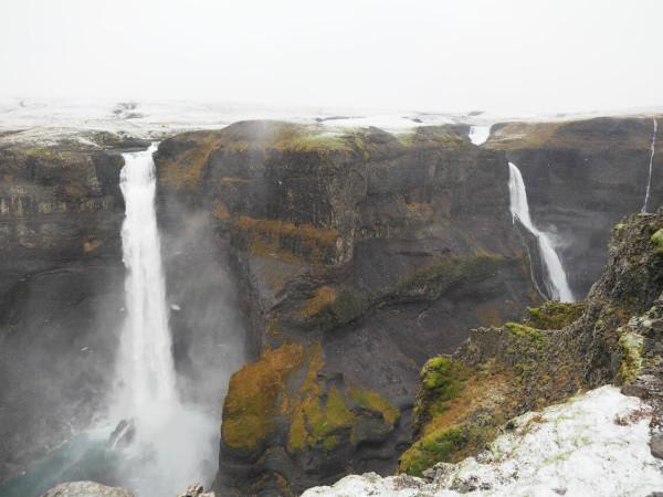 Island Wasserfall Háifoss