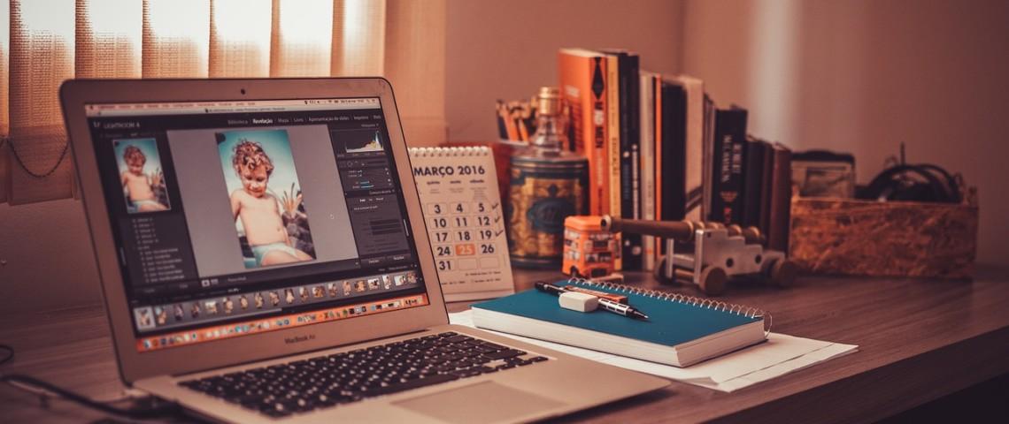 Arbeitsstruktur Laptop