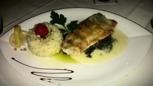 Essen im Restaurant Casablanca