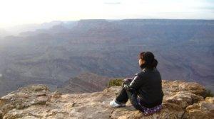 Steffi am Grand Canyon