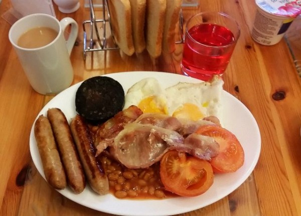 British Breakfast in St. Valery Guesthouse Edinburgh