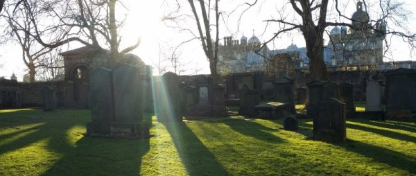 Friedhof Greyfriars Kirkyard in Edinburgh