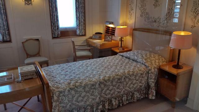 Schlafzimmer der Queen auf der Britannia