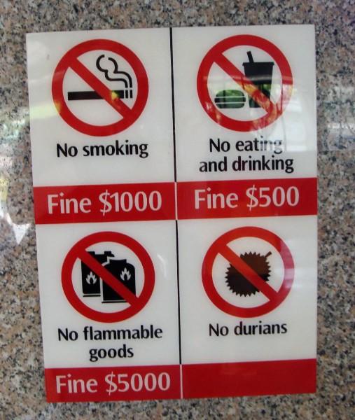 Verbotsschild Singapur