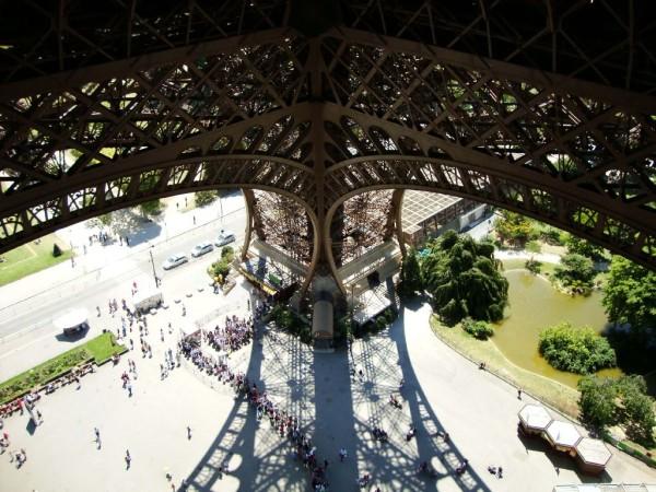 Ausblick von der 1. Etage auf dem Eiffelturm
