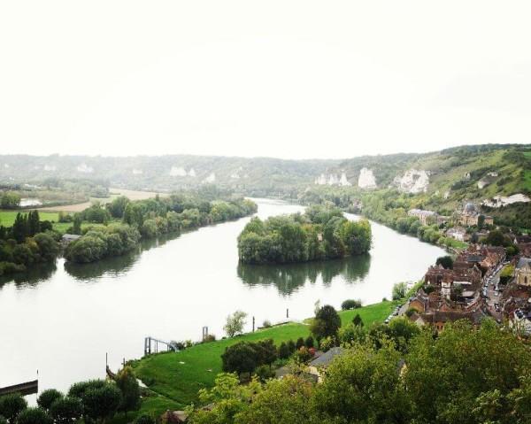 Der wundervolle Ausblick vom Château Gaillard.