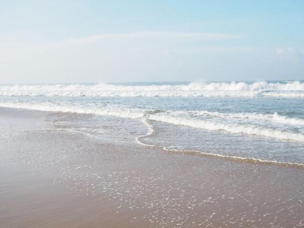 Das wunderschöne Meer in Kovalam.