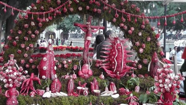 Mexiko Kunst aus Rettich