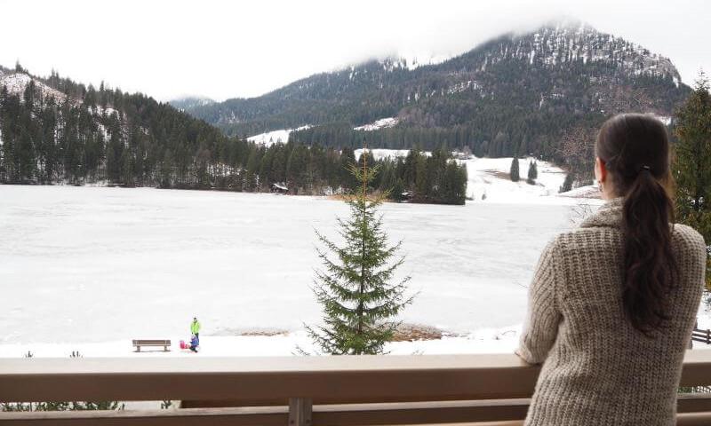 Araballa Alpenhotel am Spitzingsee Aussicht vom Balkon