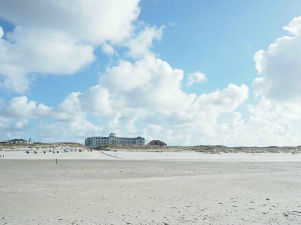 Blick auf die Strandpromenade Juist