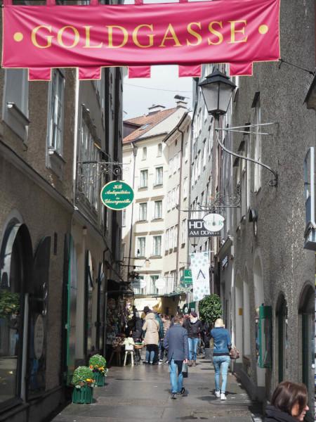 Sehenswürdigkeiten in Salzburg_Goldgasse