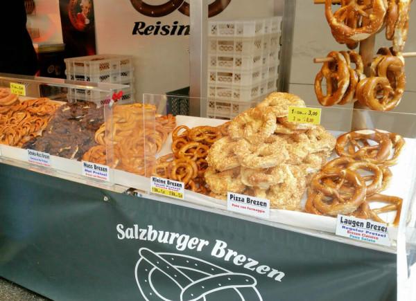 Sehenswürdigkeiten in Salzburg_Grünmarkt_Brezeln