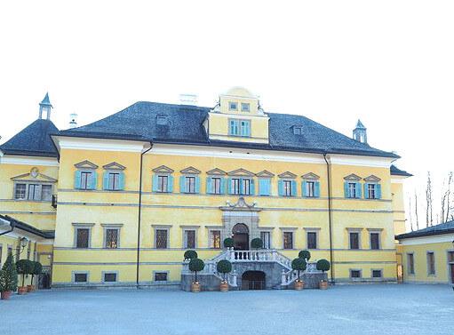 Sehenswürdigkeiten in Salzburg_Schloss Hellbrunn Front