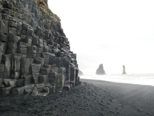 Island Vik Black Sand Beach