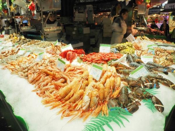 Barcelona Mercato de la Bouqueria Fisch