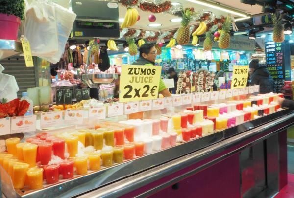 Barcelona Mercato de la Bouqueria Säfte