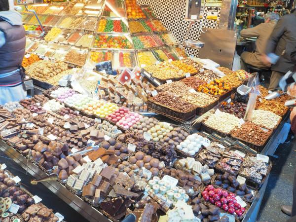 Barcelona Mercato de la Bouqueria Süßigkeiten