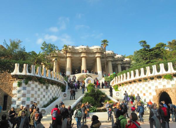 Barcelaona Park Güell Eingang