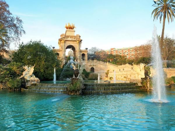 Barcelona Park de la Ciutadella Springbrunnen