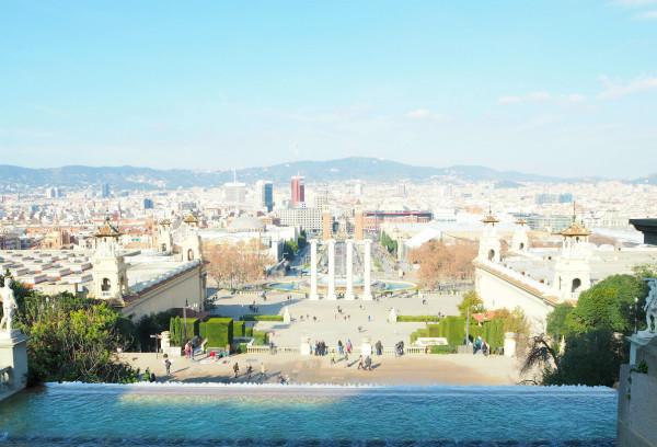 Blick auf Barcelona vom Palau Nacional