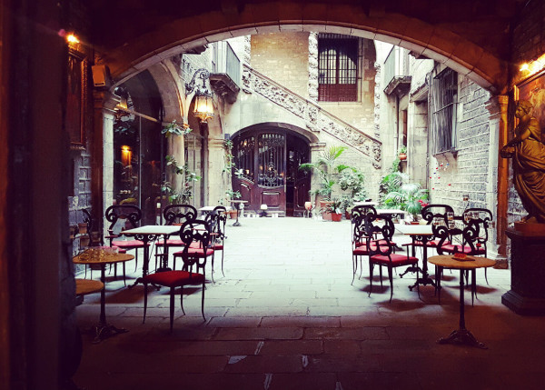 Hinterhof Altstadt Barcelona