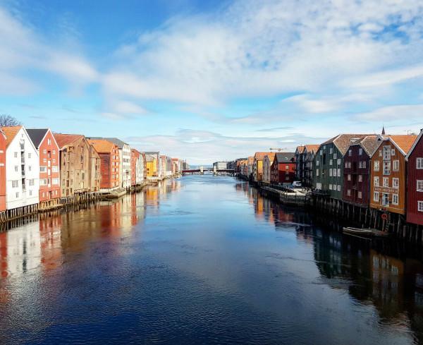 Trondelag Trondheim Alte Brücke Norwegen