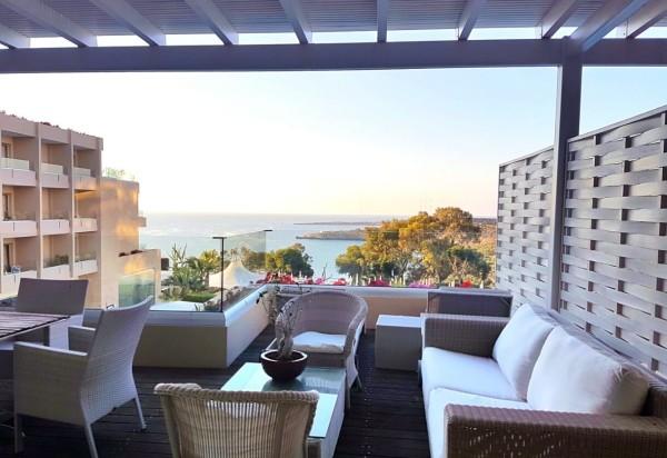 Grecian Park Hotel Aussicht Terrasse Sonnenuntergang