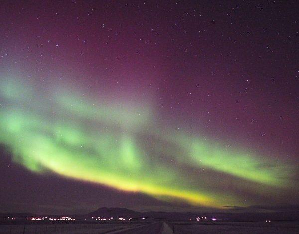 Nordlichter Polarlichter Aurora Borealis Island