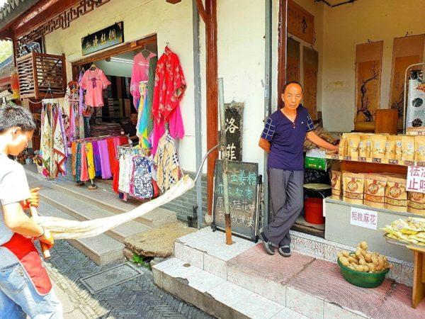 Wasserstadt-Mudu-Suzhou-China-Ingwer-Bonbons