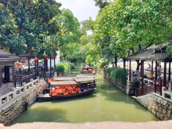 China-Suzhou-Wasserstadt-Mudu-Garten-der-Familie-Yan-Kanal