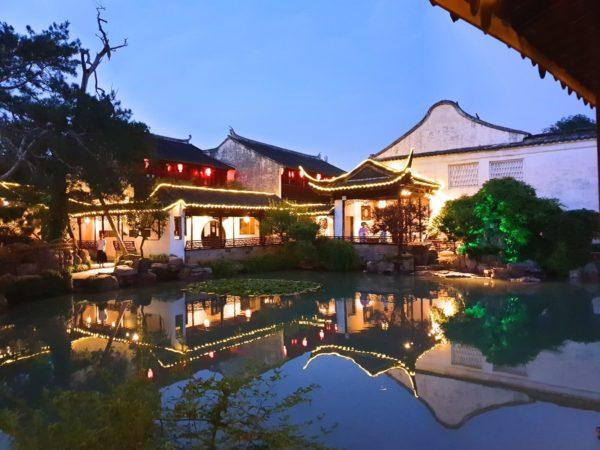 China-Suzhou-Garten-des-Meisters-der-Netze