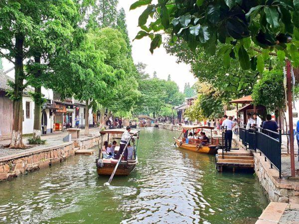 China-Shanghai-Wasserdorf-Zhujiajiao-Kanal