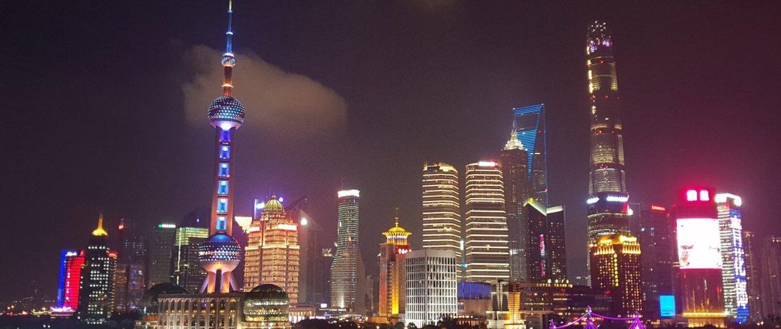 China-Shanghai-Nachts-Pudong-Skyline