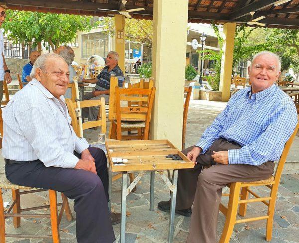 Zypern Nikosia Kaimakli Alte Männer Alltag