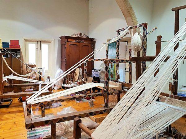 Zypern Nikosia Kaimakli Textil-Workshop von Julia Astreou-Christoforou Webstühel